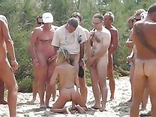 Wife used by 20 strangers at nude beach