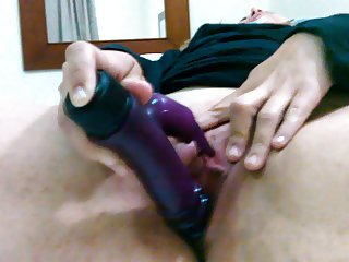 Nun cumming with a dildo