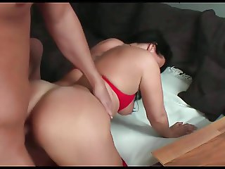 homemade, wife teases hubby and gets anal fuck