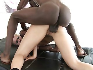 A monster cock in blonde's ass