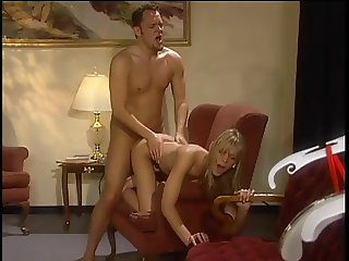 Busty Brooke has wild deep throating with white cock