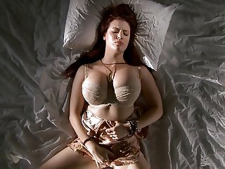 Busty red head masturbating remarkable, this