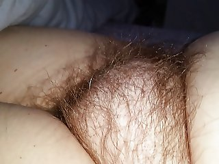 checking out the wifes dreaming soft hairy pussy mound