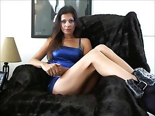 Babe in Blue Small Dick Humiliation