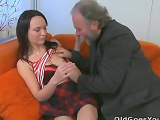 She loves having sex with old guy