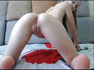 Sexy Skinny small tits play whit ass and pussy