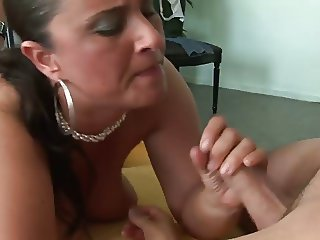 Mature mom with huge boobs and ass is getting fucked hard