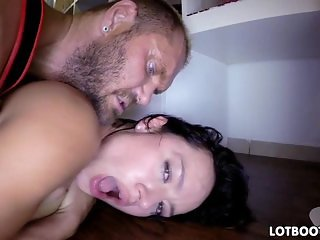 Bubble booty Franceska asshole banging
