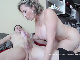 Angelina Castro and Sara Jay sharing cock!