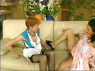 Short Hair Red Maid Anal Fisting