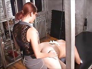 Femdom Strapon - Bend over for your Boss