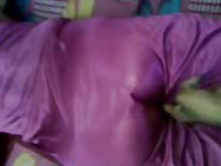 satin maami maid in nighty 3