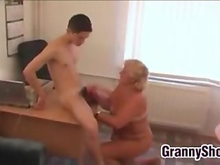 Fat Grandma Fucks In Her Office