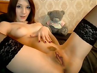 hot red hair play on cam