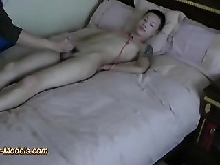 Cute Slim Asian Boys Bound Cum