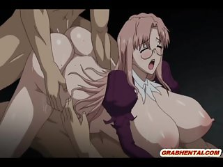 Huge melon boobs hentai assfucking and cumfac
