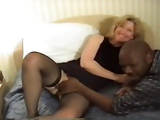 Blonde wife's BBC hotel fun