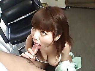 Office work is hard, fix it with a blowjob and swallow