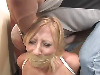 Tied Naked and Gagged With Her Panties