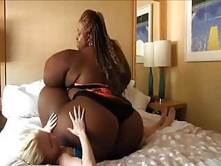 Ssbbw ebony skinny white girl