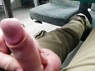 Flashing my cock in a train from Rathenow to Berlin