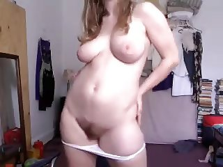 cute girl with hairy pussy and big tits