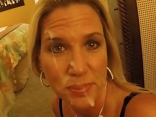 Xhamster member cums on my wifes face