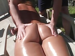 Mellanie Monroe PAWG blonde milf oil ass