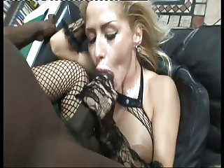 Blonde Eva and Monster Black Cock