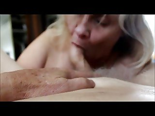 mature Sue sucking cock