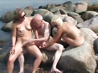 Old Man young Girls 2