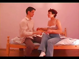 Fornication young boy and mature woman in a separate