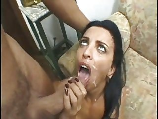 Brazilian mami gets gets groin sausage with white-sauce BB