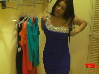 TS Vivian in the fitting room
