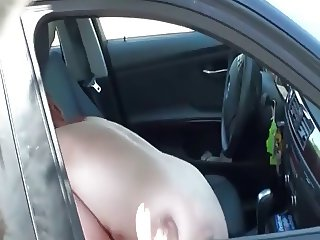 Couple Is Filmed While Fucking in the Car