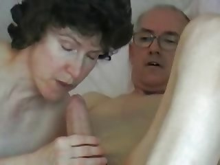 Mature couple - grandpa big fat cock