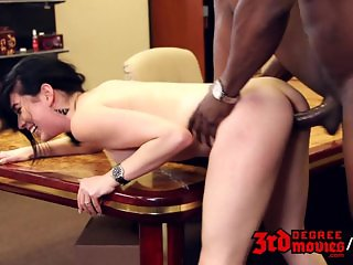 Black secretary fucks boss