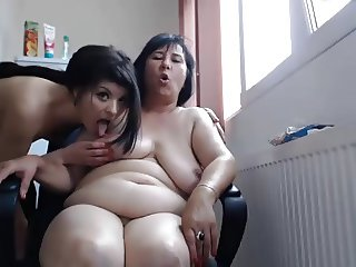 Amateur Lesbian Homemade webcam - Young and Old