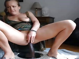 Squirt with black dildo