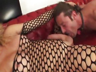 Abused By Blonde In Fishnet.