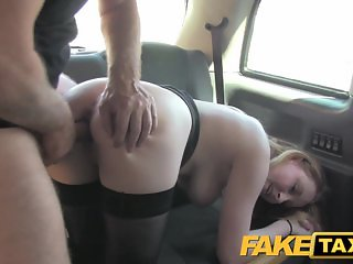 FakeTaxi Babe in heels with big natural tits
