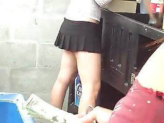 Spy sexy barmaid