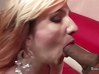 German Granny in First Time Porn Casting with Big Dick