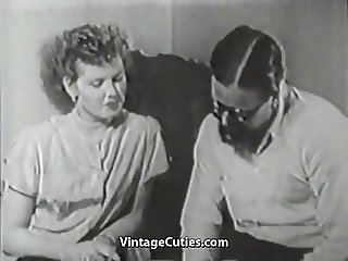 Hairy Boy Penetrating His New Friend (1950s Vintage)
