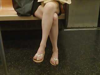 MILF legs on train 2