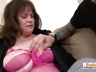 The heavily tattooed young stud fucks his mature private tut