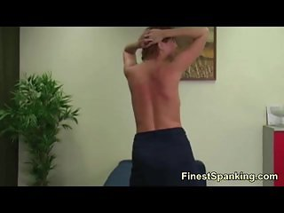 Busty blonde getting spanked