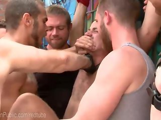 Landlord Gangfucked By Angry Studs