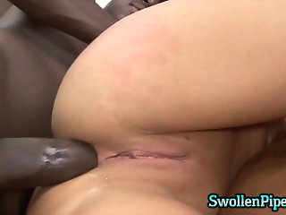 Petite brunette takes it in her ass
