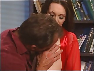 Cute young milf with high heels on sucks a big cock before getting fucked